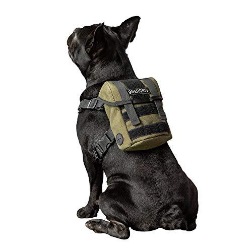OneTigris ミニリュック型 K9 ハーネス ドッグリュック サイズ調整可 中型犬 小型犬 (オリーブグリーン)