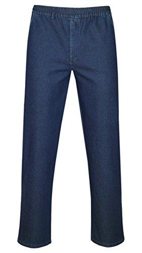 T-MODE Herren Stretch-Thermo-Jeans Schlupfhose ohne Cargo-Taschen-Blue-XL