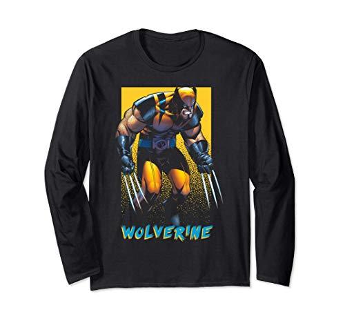 Marvel X-Men Wolverine Dark Poster Langarmshirt