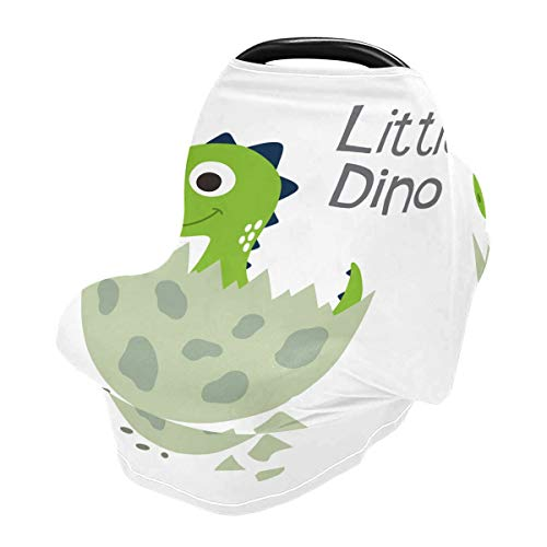 Nursing Cover Breastfeeding Scarf Dino- Baby Car Seat Covers, Stroller Cover, Carseat Canopy (83)