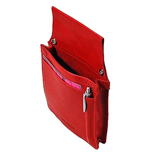 Branco Leder Kellnertasche Kellnerholster Kellner Halfter Kassierertasche für PDA GoBago (Rot)