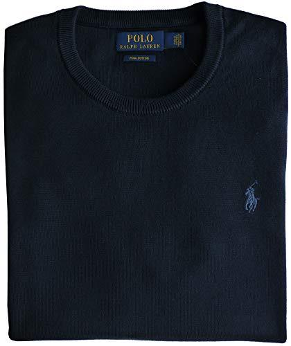 Ralph Lauren Felpa da uomo con collo rotondo, in cotone Pima - blu navy Blu mare S