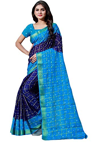 Shyam Export Women's Silk Saree With Unstitched Blouse Piece (Saree For women-2665...