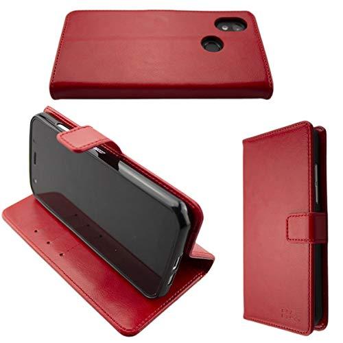 caseroxx Handy Hülle Tasche kompatibel mit Cat S52 Bookstyle-Hülle Wallet Hülle in rot