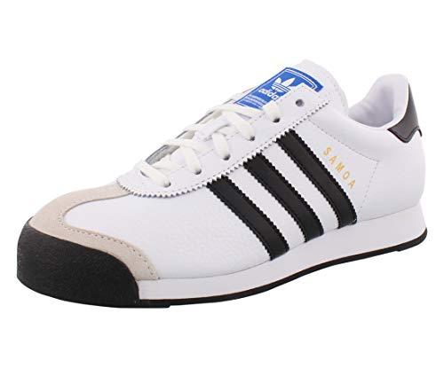 adidas Originals Samoa Sneaker, White/Black/White, 4 US Unisex Little Kid