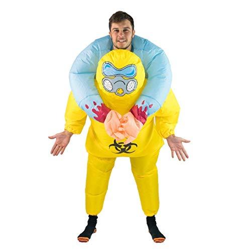 Bodysocks Fancy Dress Aufblasbares Huckepack Kostüm Biohazard Anzug