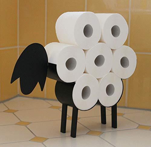 DanDiBo Toilettenpapierhalter Schwarz Metall Schaf WC Rollenhalter Freistehend WC Papierhalter Toilettenrollenhalter 4