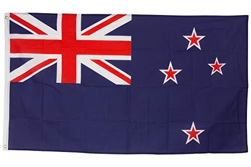SCAMODA Bundes- und Länderflagge aus wetterfestem Material mit Metallösen (Neuseeland) 150x90cm