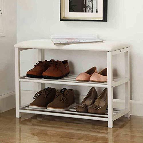 CLJ-LJ Zapatero de acero al carbono, estante de almacenamiento de zapatos simple, estante de almacenamiento de múltiples capas de repuesto para zapatero multifunción