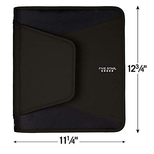 Five Star 1-1/2 Inch Zipper Binder, 3 Ring Binder, 3-Pocket Expanding File, Durable, Color Selected For You (28012) Photo #4