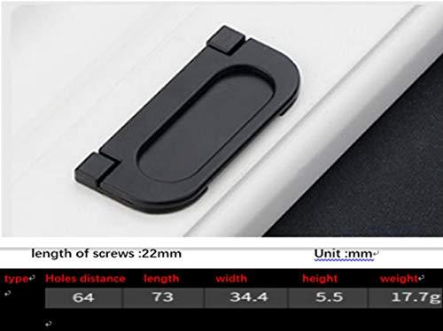 Garderobe Deurkruk Aluminium Mat Zwart Handvat Zwarte Kabinet Handgrepen Lade Knopen Meubilair Handvat Hardware Type5