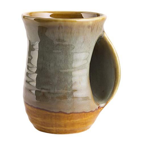 Hand Warmer Mug, Handmade Pottery Ceramic