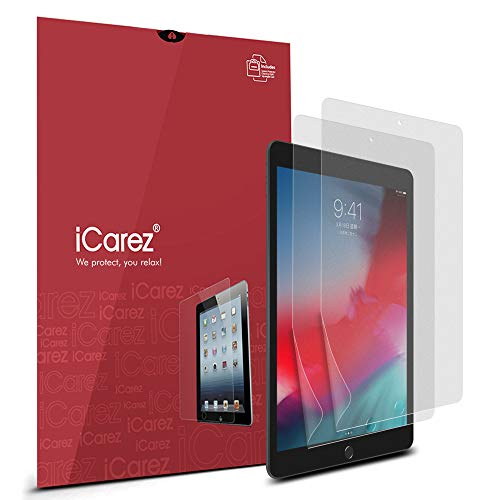 iCarez [Anti-Glare] Matte Screen Protector for iPad Mini 2019 (iPad Mini 5) 7.9-inch 2-Pack [Not Glass] Premium Easy to Install Bubble Free with Hinge Installation