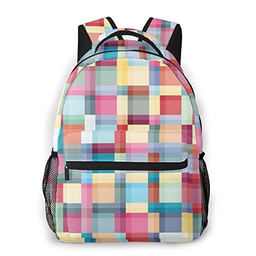 Rucksack Männer und Damen, Laptop Rucksäcke für 14 Zoll Notebook, Badfarben Kinderrucksack Schulrucksack Daypack für Herren Frauen