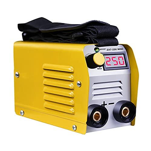 SUQIAOQIAO 20-250A Máquina de Soldadura eléctrica de Pantalla Digital Ajustable de 20-250A, Herramienta de Equipo de Soldadura de Mini IGBT