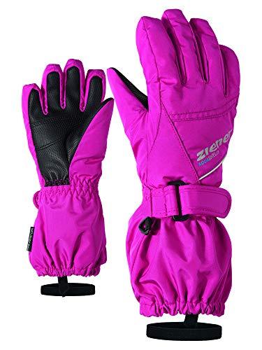 Ziener Baby LOMO AS Ski-Handschuhe/Wintersport | Wasserdicht, Atmungsaktiv, pop pink, 116 (L)