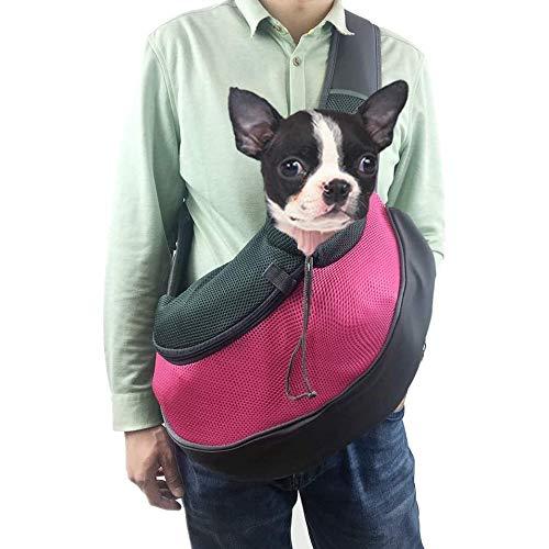 Voarge - Bolso bandolera para mascotas, transportín de paseo, ideal para perros de pequeño tamaño o gatos, bolsa de transporte para gatos y perros, ideal para perros o gatos pequeños