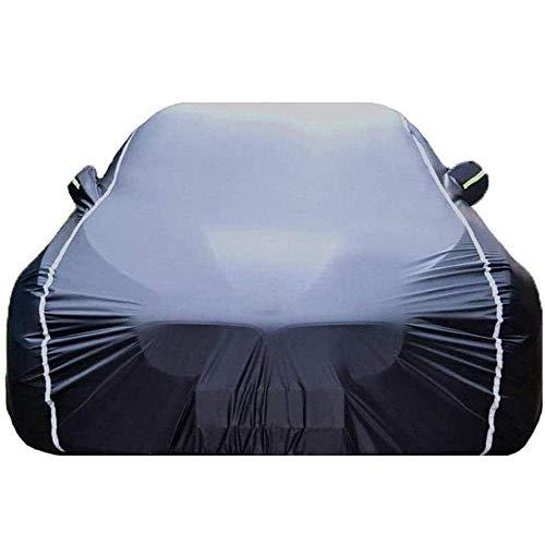 YGYDXMB Funda para Coche Compatible con Audi Q3 Q5 Q7 Q8 Impermeable Lona para Coche Cubierta Coche-Capa Negra_Audi Q8