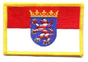 Flaggen Aufnäher Patch Hessen Fahne Flagge NEU