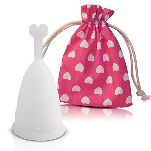 Copa menstrual CozyCup SUNNY – Hecho de Silicona de Grado Médico (blanco, pequeño)