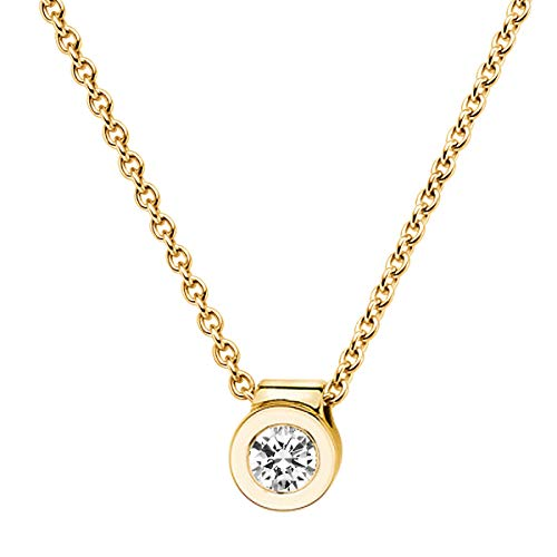 trendor Brillant Collier 0,10 ct Gelbgold 585 532522