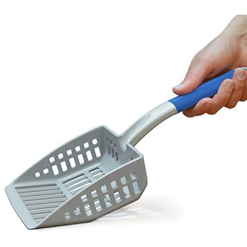 PetFusion Grande Pelle à litière pour Chat – Plastique ABS résistant et Bord Plat pour la Pelle en Dessous pour Un Nettoyage Plus Facile.
