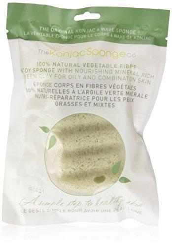 The konjac Sponge - Esponja para cuerpo enriquecida con arcilla verde