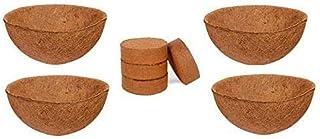 COIR GARDEN-Coco Fiber Liner - Hanging Planter POTS - Coir Liner - Basket Liner 12 INCH - Buy 4 Pieces (GET Coco Disk 4 NO...