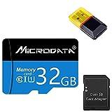 Gmjay Tarjeta Micro SD Tarjeta de Memoria TF con Lector de Adaptador Tarjeta Flash SD de Clase 10 para Cámara/Drone/Dash CAM,32GB