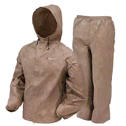 FROGG TOGGS ultraleichter Regenanzug für Damen, wasserdicht, atmungsaktiv, Damen, Regenanzug, Ultra-Lite2 Waterproof Breathable Protective Rain Suit, khaki, Large