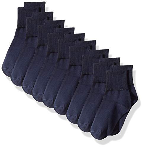 Amazon Essentials Mädchen Socken 9er-Pack,  Navy, 36-40 (3-10)