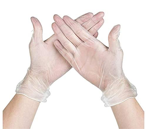 SALO MED - Guantes de vinilo 1000 unidades 10 cajas (L, transparentes) Guantes desechables - Sin polvo y látex, ultra resistentes, 1000 unidades