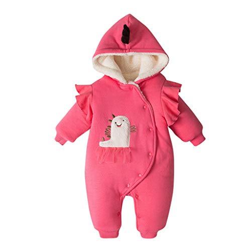 Chándal de abrigo para niña con capucha, chaqueta y pelele acolchados en algodón acolchado sudadera con capucha para niños de color liso estampado de mangas largas para niños chaquetas Età consigliata:6-12 mesi rojo