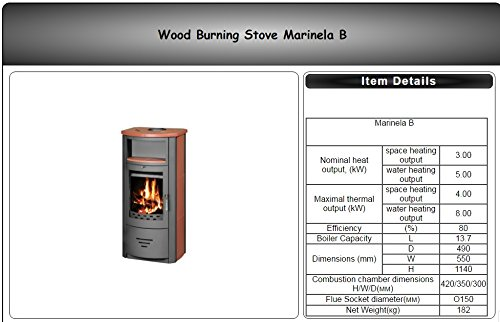 Estufa de leña chimenea de caldera de diseño moderno Multi combustible agua chaqueta 8kW