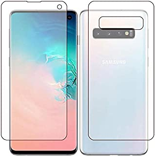 protector for Samsung S10 plus Screen protector Full cover front and back Gelatin - Clear