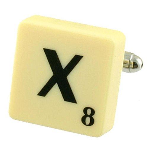 Letra X Scrabble gemelos (compre 2 para un Cuff Links) Seleccione bolsa de regalo