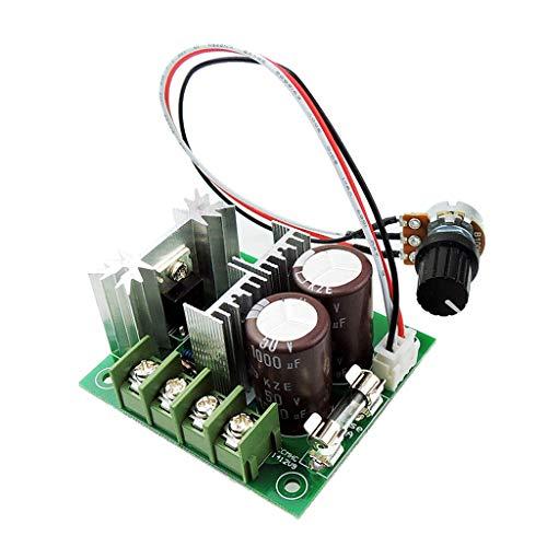 JIACUO Controlador de Velocidad del Motor DC 12V-40V DC 400W 10A 10% -100% Controlador PWM Ajustable Módulo de accionamiento de 13 kHz con interruptores giratorios externos
