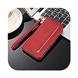 LLYAP 高級レザージッパーウォレットS20plus S20ultraフリップケースfor サムスンギャラクシーS20 S10E S9 S8プラスS7エッジノート8 9 10 +電話カバー-Red-For S9plus