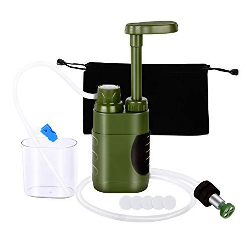 lahomia Kit de Emergencia de Sistema de filtración purificador de Filtro de Agua de Supervivencia al Aire Libre, Ligero y portátil, 235x81mm