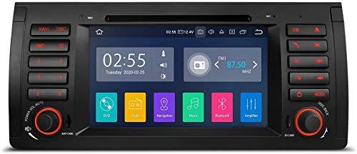 Bluetooth 5.0 Android 10.0 Radio estéreo para automóvil Unidad principal de 8 pulgadas Soporte de navegación GPS Plug and Play CarAutoPaly WIFI DVR DAB + OBDpara Mercedes-Benz C / CLK W203 W209