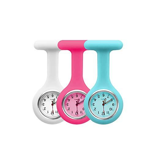 3pcs Silicone Nurses Watch (Practical Colour)