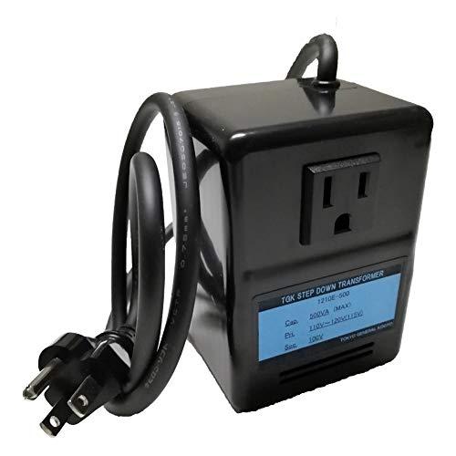 GPTGK1210E-500 Aタイプアースピン付ダウントランス AC110-120V⇒降圧⇒100V(容量500W)変圧器