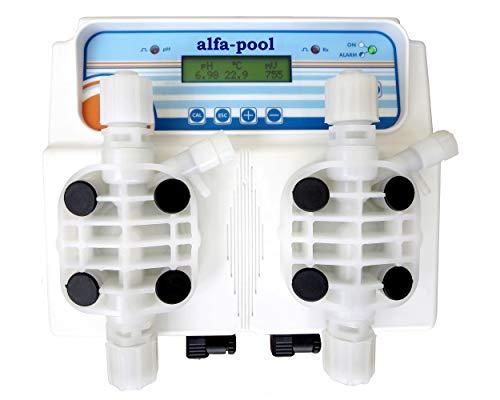 alfa-pool Mess- und Regelgerät pH/Redox compact MP I für pH-Wert/ Desinfektion im Schwimmbad, Whirlpool