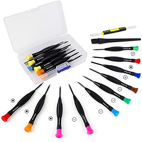 20Pcs Kit de Herramienta de Precisión Herramienta de Reparación de Destornilladores Juego Destornilladores Precisión Destornillador de Gafas para IPhone