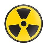 GoBadges - CD0476 Sign Radiation - 3' Magnetic Grill Badge/UV Stable & Weather-Proof/Works Grill Badge Holder
