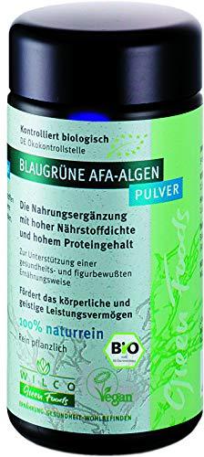 Bio AFA Algen Pulver 50g - Wilco Green Foods - 100% Naturreines Biologisches Nahrungsergänzungsmittel für körperliche Fitness und ein gesteigertes Wohlbefinden - Vitamin B12