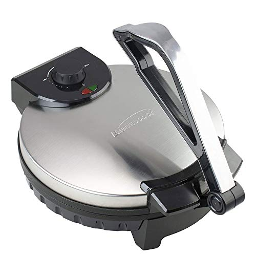 Brentwood TS-129 Stainless Steel Non-Stick Electric Tortilla Maker,...