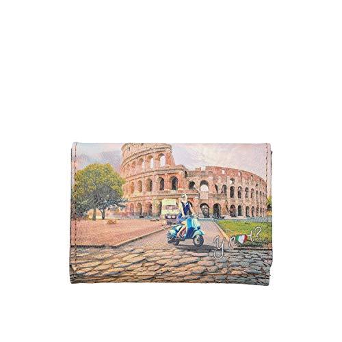 YNOT YES-346S0 PORTAFOGLIO Unisex STAMPA ROMA TU