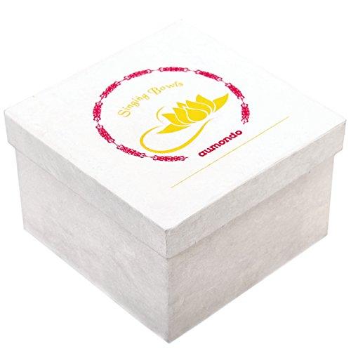Original Tibetische Klangschale 12cm. Klangschalen Set mit Klöppel und Klangschalenkissen in Loktapapier Geschenk-Box. Singing Bowl aus Tibet - 6