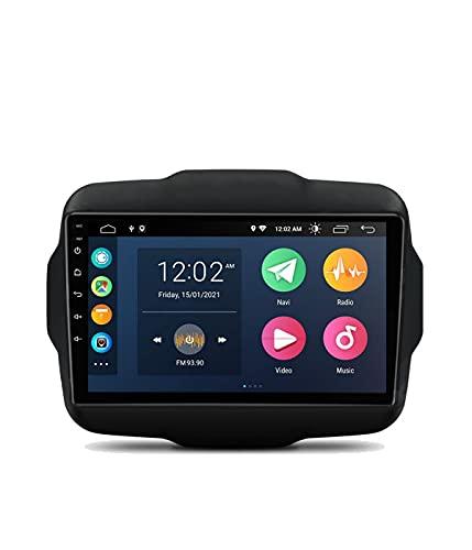 ESTOCK1 Car tablet Android 10 per Jeep Renegade Carplay 2015-2019 2G di ram 9 pollici GPS autoradio navigatore WI-FI Bluetooth MirrorLink